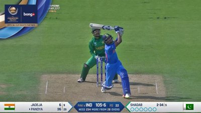 Pandya Batting Highlights - Jadoo Big Hits - IND vs PAK - CT17 - Final