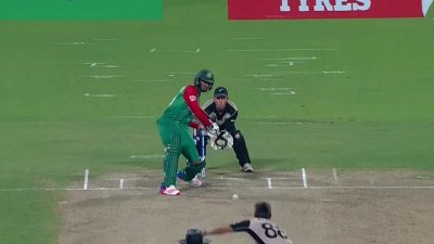 Mustafizurs Hits a Huge Six - BAN vs NZ