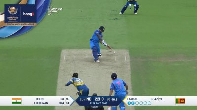 Dhawan 13th Four - SunChips In-match - IND vs SL - CT17 - Match 8