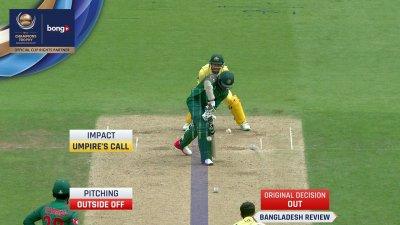 Shakib Wicket - AUS vs BD - CT17 - Match 5