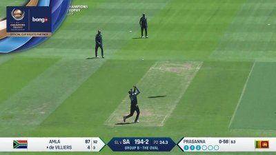 De Villiers Wicket - SL vs SA - CT17 - Match 3