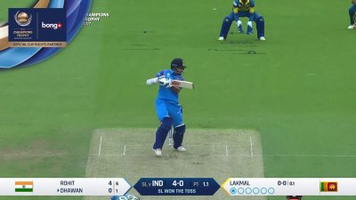 Dhawan 1st Four - SunChips In-match - IND vs SL - CT17 - Match 8