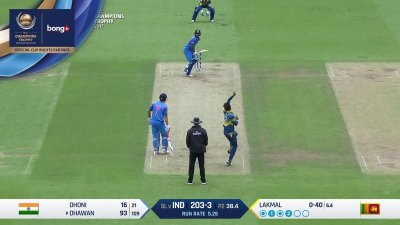 Dhawan 12th Four - SunChips In-match - IND vs SL - CT17 - Match 8