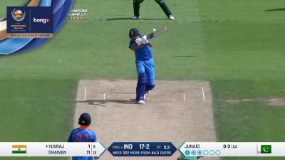 Yuvraj 1st four - SunChips In-match - IND vs PAK - CT17 - Final