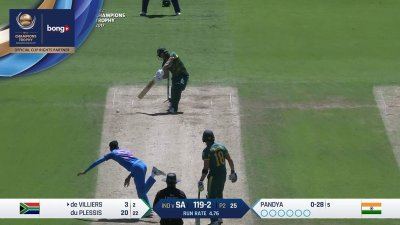De Villiers 1st Four - SunChips In-match - IND vs SA - CT17 - Match 11