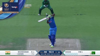 Ashwin Wicket - IND vs PAK - CT17 - Final