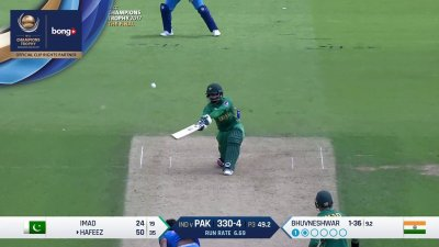 Hafeez 3rd Six - SunChips In-match - IND vs PAK - CT17 - Final