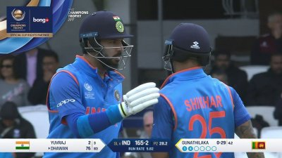 Dhawan 11th Four - SunChips In-match - IND vs SL - CT17 - Match 8