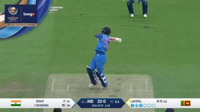 Dhawan 4th Four - SunChips In-match - IND vs SL - CT17 - Match 8