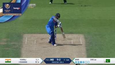 Dhawan 2nd Four - SunChips In-match - IND vs PAK - CT17 - Final