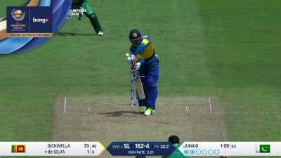 De Silva Wicket - PAK vs SL - CT17 - Match 12